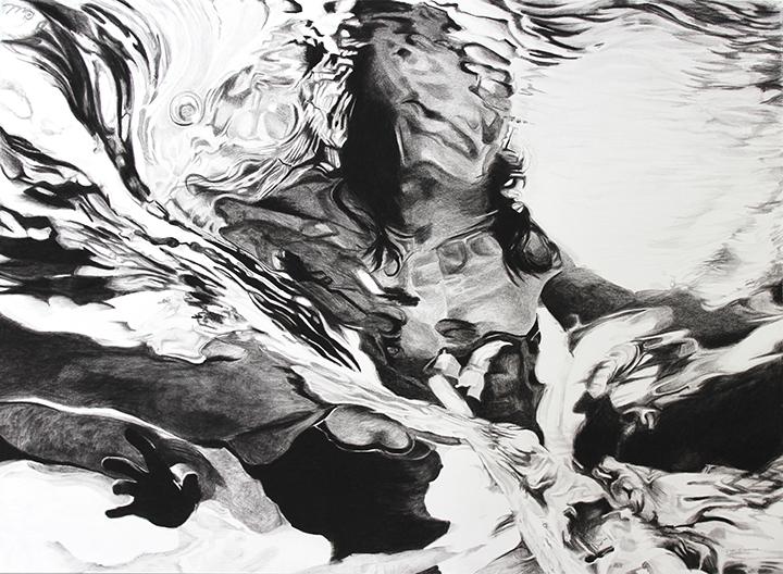 Greyscale swirled image