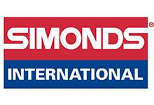 Simonds International, Simonds is white lettering on red and international is white letters on blue