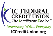 IC Federal Credit Union Logo with green and purple text